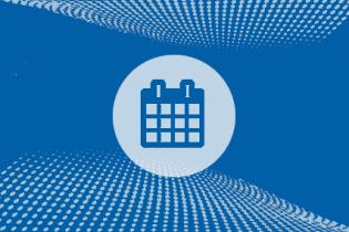 calendar icon against blue textured background