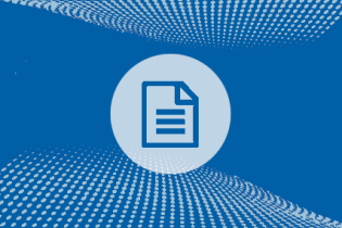 document icon against blue textured background